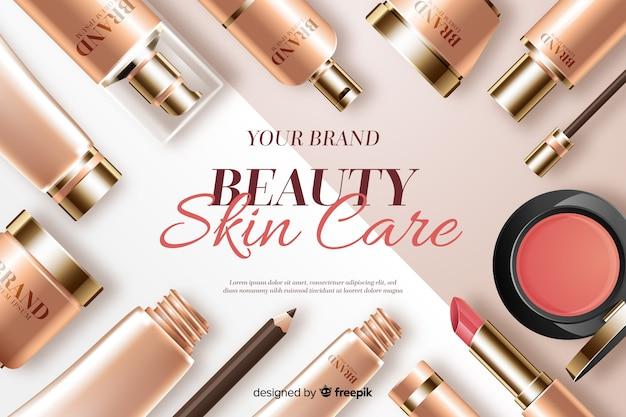 Schoonheid huid zorg achtergrond Gratis Vector