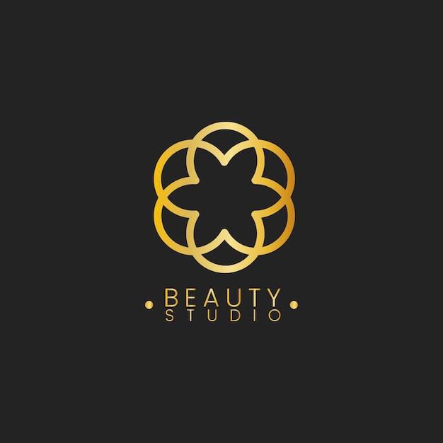 Schoonheid studio ontwerp logo vector Gratis Vector