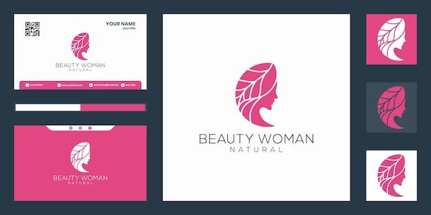 Schoonheid vrouwen logo Premium Vector