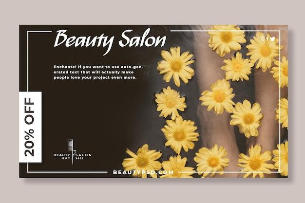 Schoonheidssalon floral banner Gratis Vector