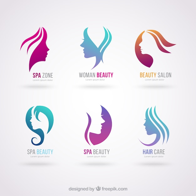 Schoonheidssalon logos Premium Vector