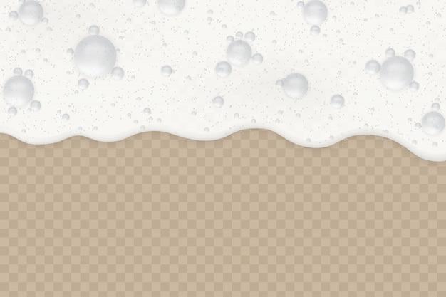 Schuim met bubbels Premium Vector