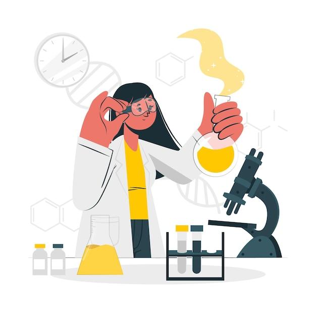 Science concept illustratie Gratis Vector