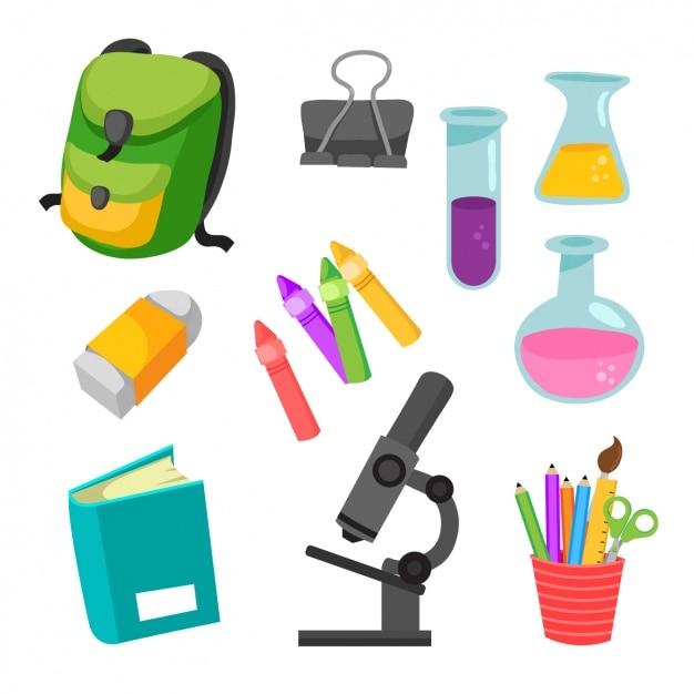 Science elementen collectie Gratis Vector