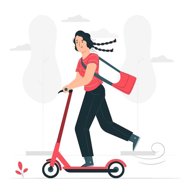 Scooter concept illustratie Gratis Vector