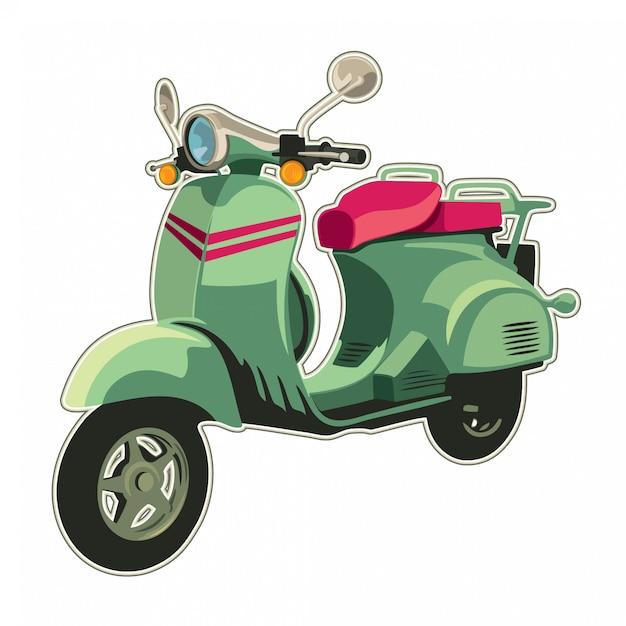 Scooter illustratie Premium Vector