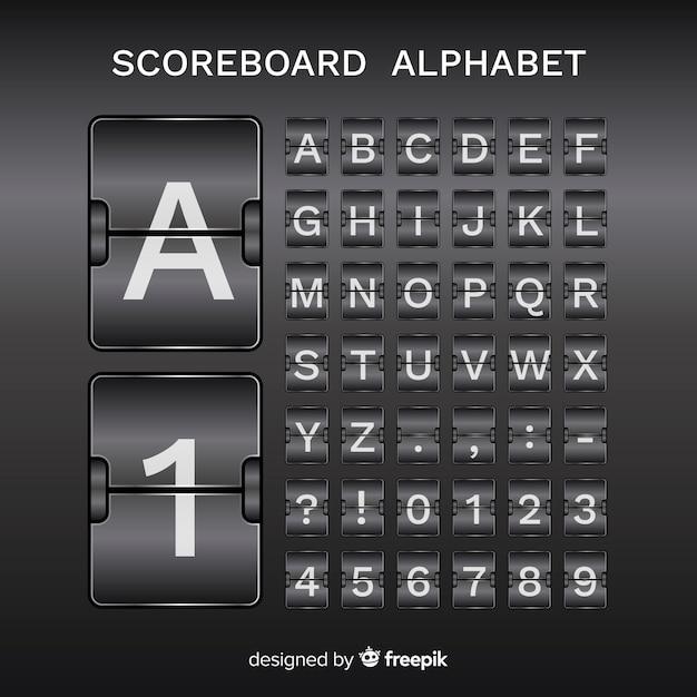 Scorebaord alfabet Gratis Vector
