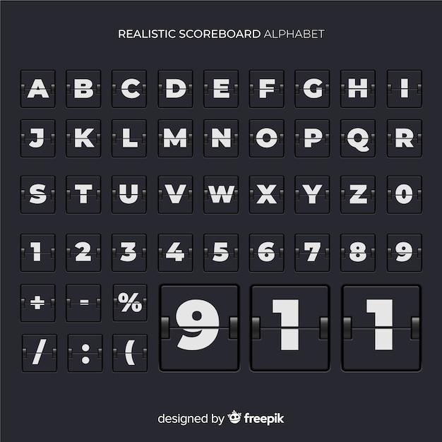 Scorebord alfabet Gratis Vector