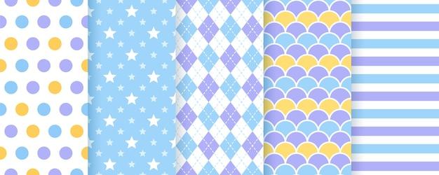 Scrapbook achtergrond. vector. naadloze patroon. leuke prints voor schrootontwerp. geometrische illustratie Premium Vector
