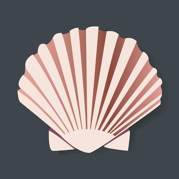 Seashell vectot illstration graphic design Gratis Vector