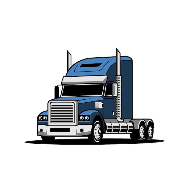 Semi vrachtwagen Premium Vector