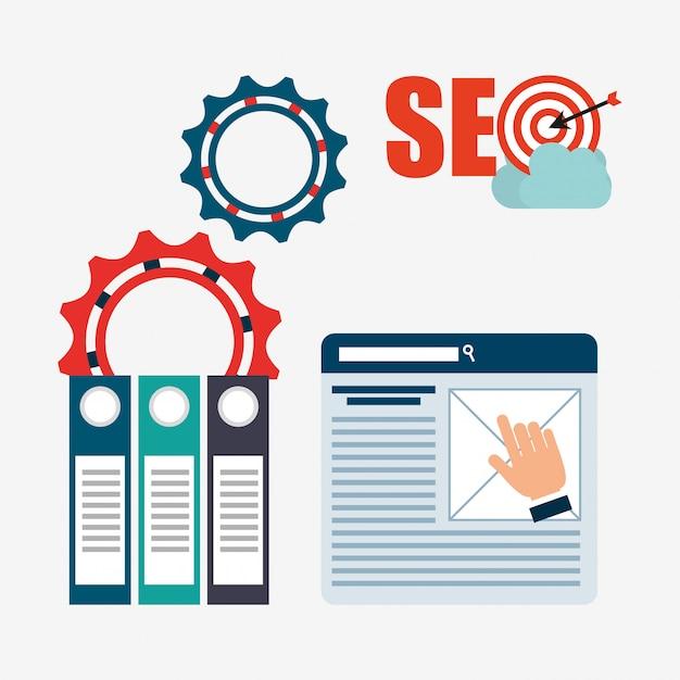 Seo concept illustratie Gratis Vector