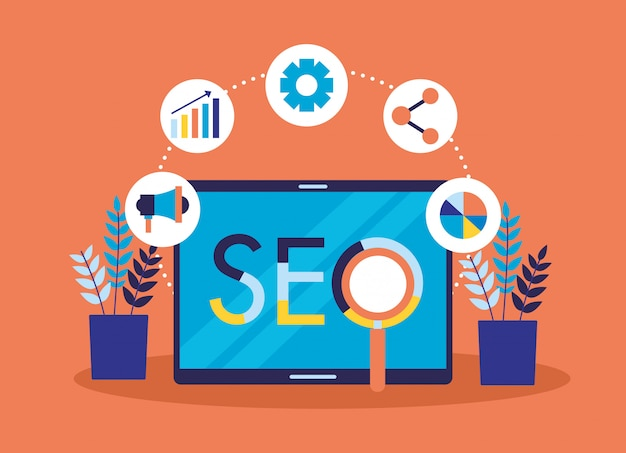 Seo optimalisatie Gratis Vector