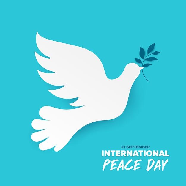 Sep internationale vredesdag Premium Vector