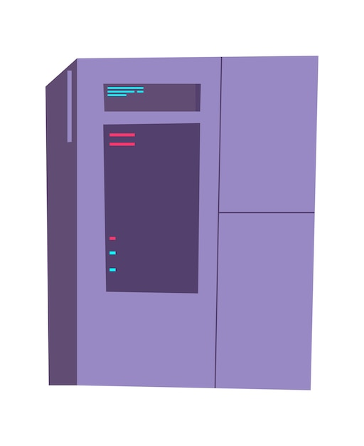 Server rack cartoon afbeelding. internetapparatuur voor het opslaan en verwerken van informatie, database Gratis Vector