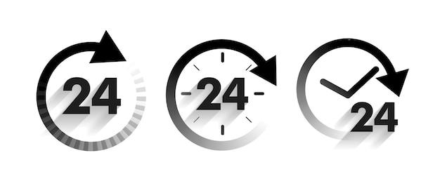 Service een dag pictogrammen instellen in pijlstijl Gratis Vector