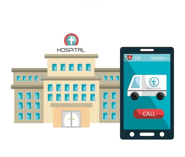 Service voor gezondheidstechnologie Gratis Vector