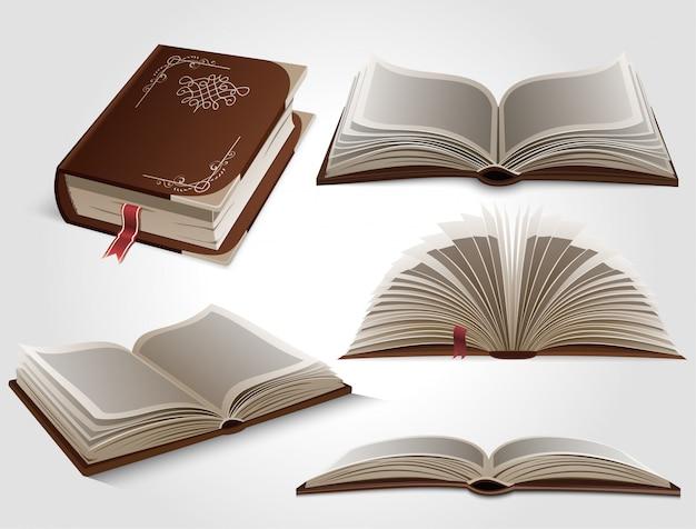 Set boeken. Premium Vector