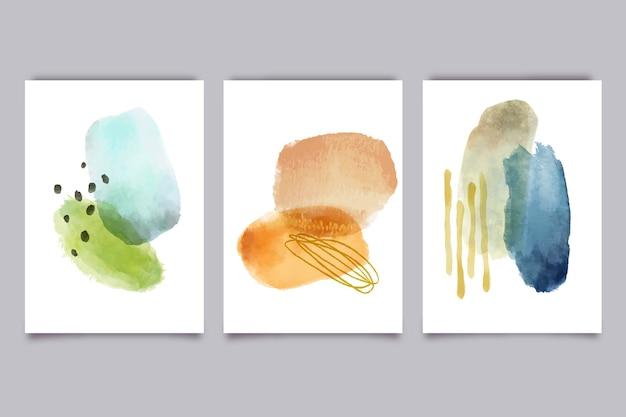 Set covers met abstracte vormen Gratis Vector
