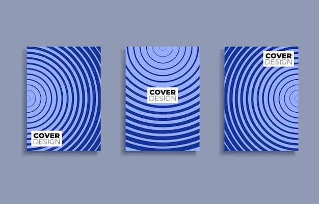 Set covers ontwerpsjablonen achtergrond. Premium Vector