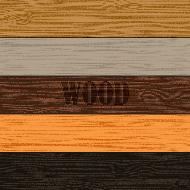 Set houtstructuren Premium Vector