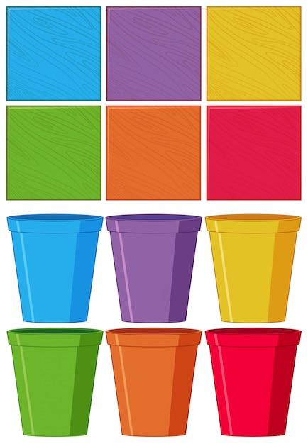 Set kleurenobject Gratis Vector