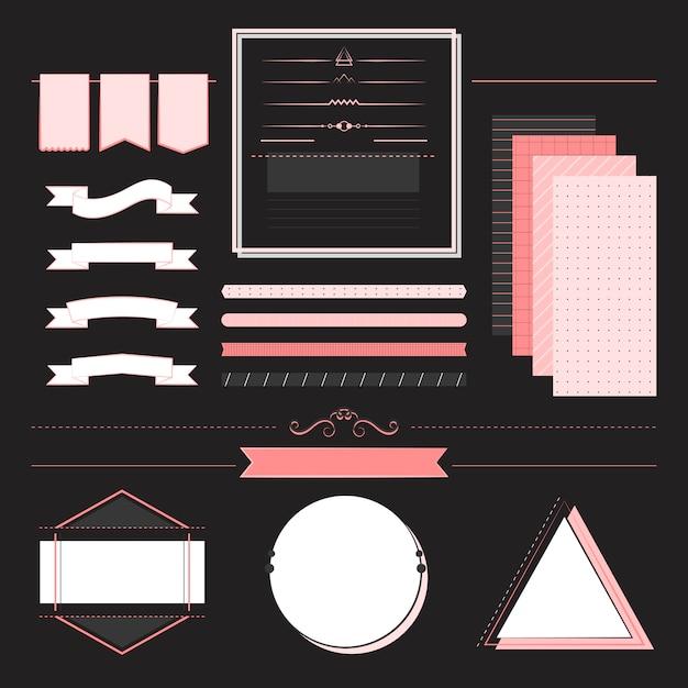 Set met ontwerpelementen vector Gratis Vector