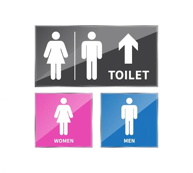 Set toiletborden. Premium Vector