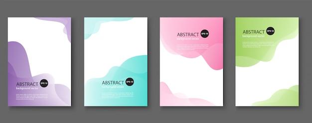 Set van abstracte achtergronden met lijngolven Premium Vector