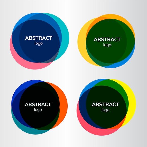 Set van abstracte badgeontwerpen Gratis Vector
