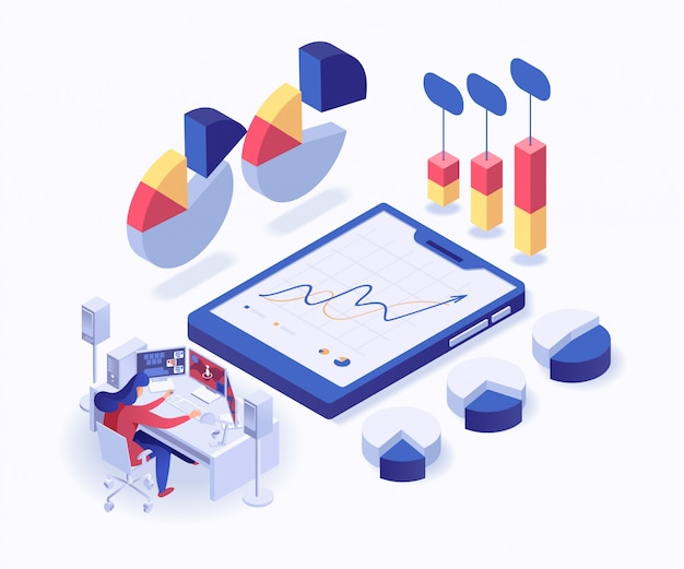 Set van analisten Premium Vector