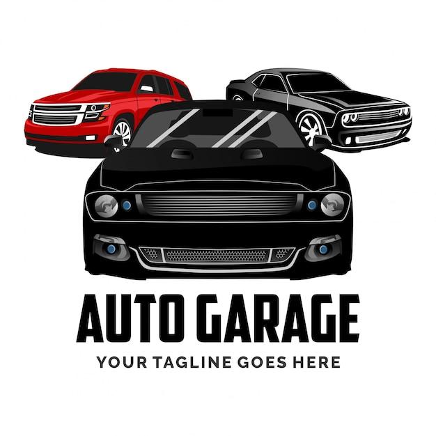 Set van auto garage auto logo ontwerp inspiratie Premium Vector