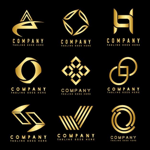 Set van bedrijfslogo ontwerpideeën Gratis Vector