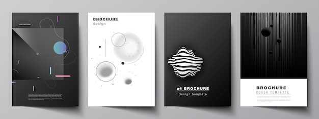 Set van brochures Premium Vector