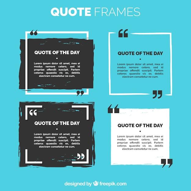 Set van citaat frame Premium Vector