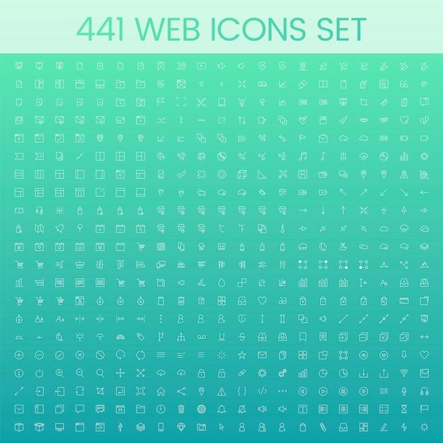 Set van computer pictogram vectoren Gratis Vector