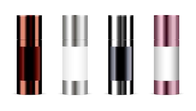 Set van cosmetische producten. cosmetisch pakket Premium Vector