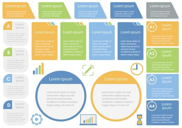 Set van diverse infographic sjablonen Premium Vector
