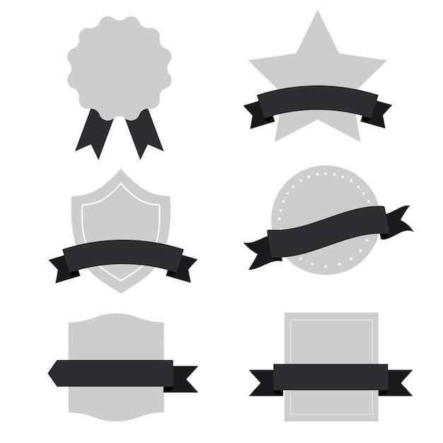 Set van gemengde banners vector Gratis Vector