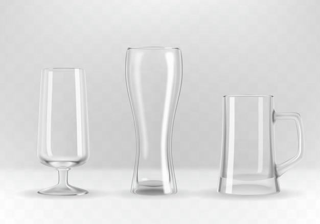 Set van glazen Premium Vector