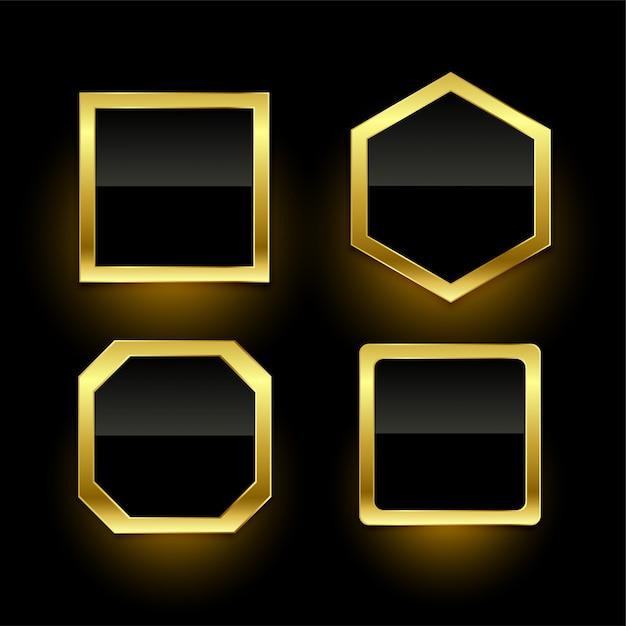 Set van gouden lege badge etiketten Gratis Vector