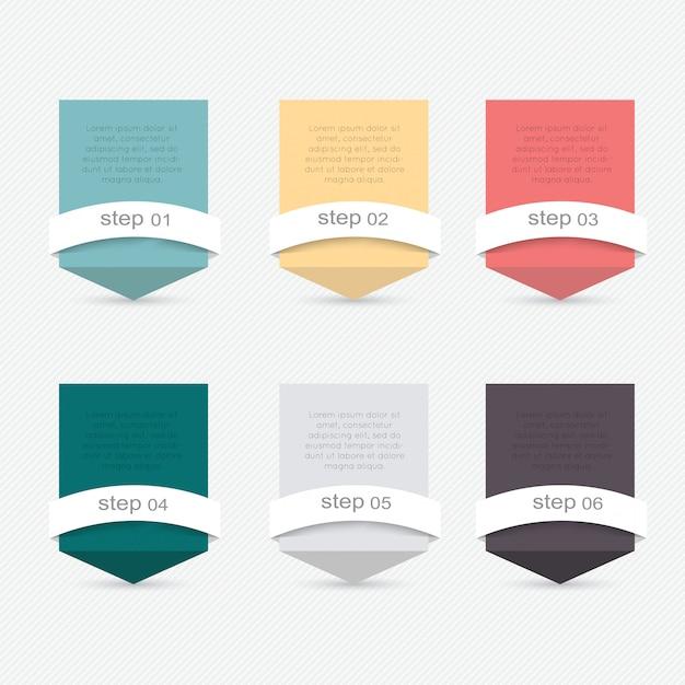 Set van infographics elementen in moderne platte zakelijke stijl. Premium Vector