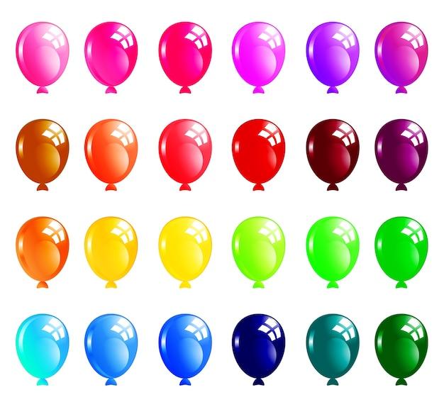 Set van kleurrijke ballonnen Premium Vector