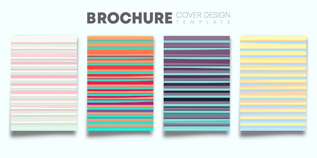 Set van kleurverloop covers Premium Vector