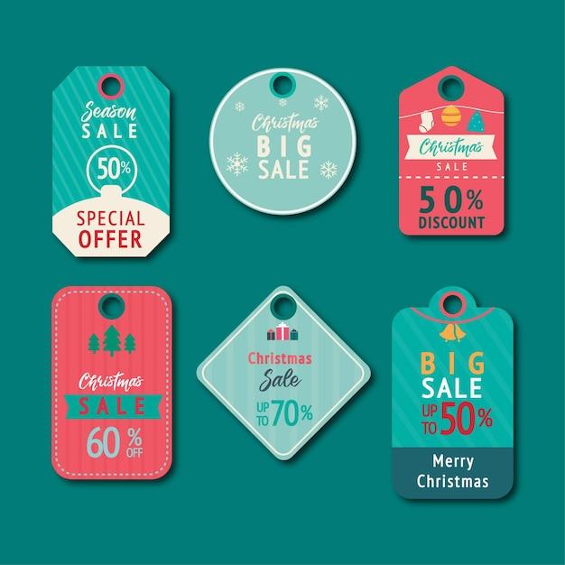 Set van leuke illustratie tags of labels cartoon stijl Premium Vector