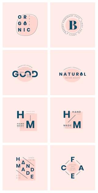 Set van logo badge ontwerp vectoren Gratis Vector