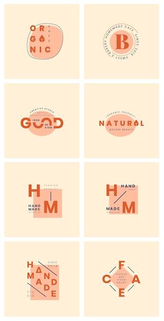 Set van logo ontwerp vectoren Gratis Vector