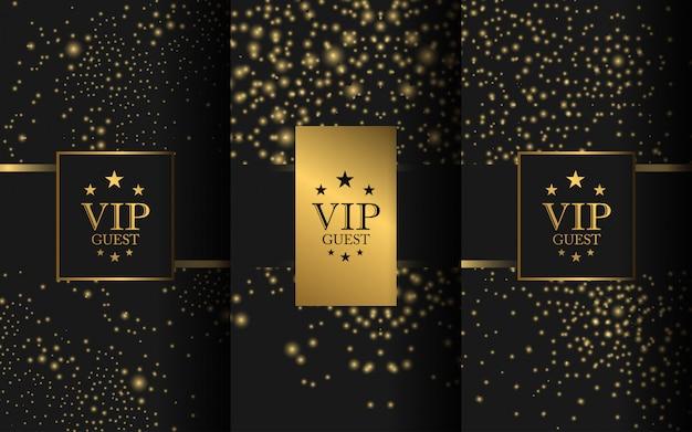 Set van luxe logo Premium Vector