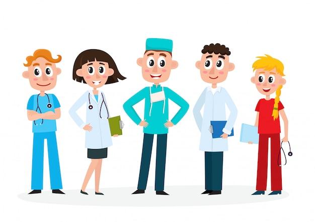 Set van medisch personeel Premium Vector