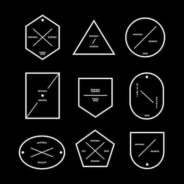 Set van minimale badges en labels Gratis Vector